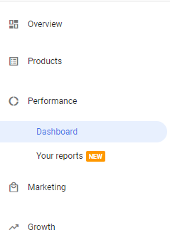 google merchant center reporting dashboard