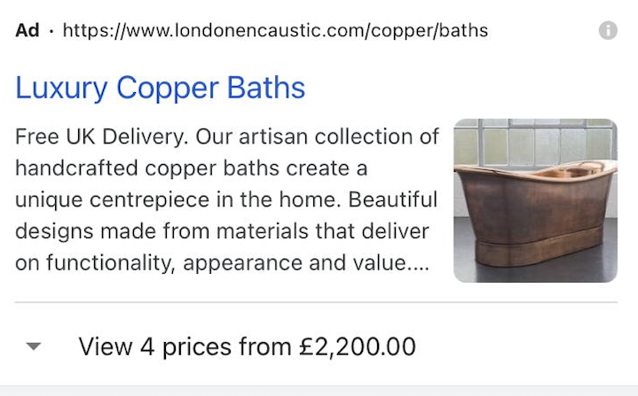 London Encaustic Image extension ad