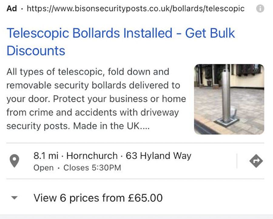 Bison Security Posts Image Extensions ad